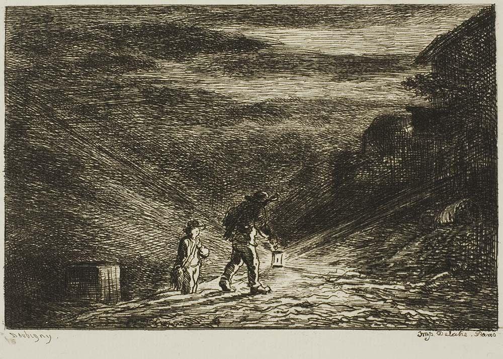 The Search for an Inn, 1861, Charles François Daubigny